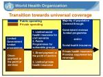 transition towards universal coverage