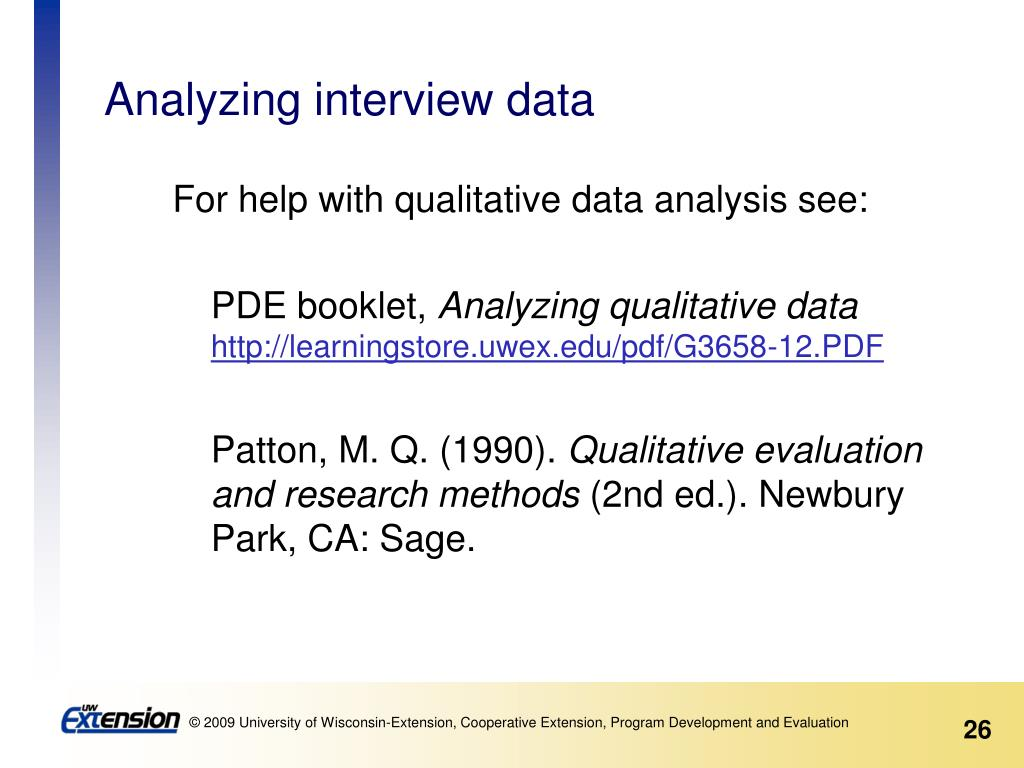 Analyzing interview data