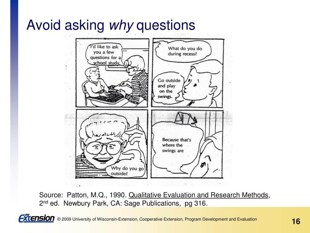 Avoid asking