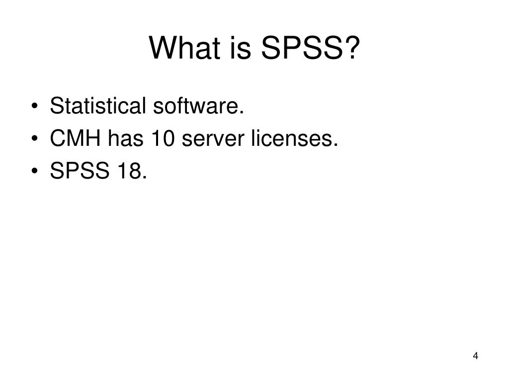 What is SPSS?