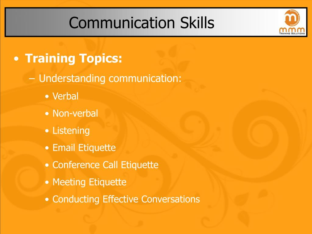 communication skills l.