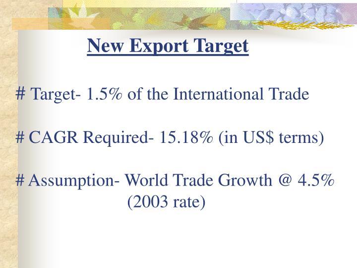 New Export Target