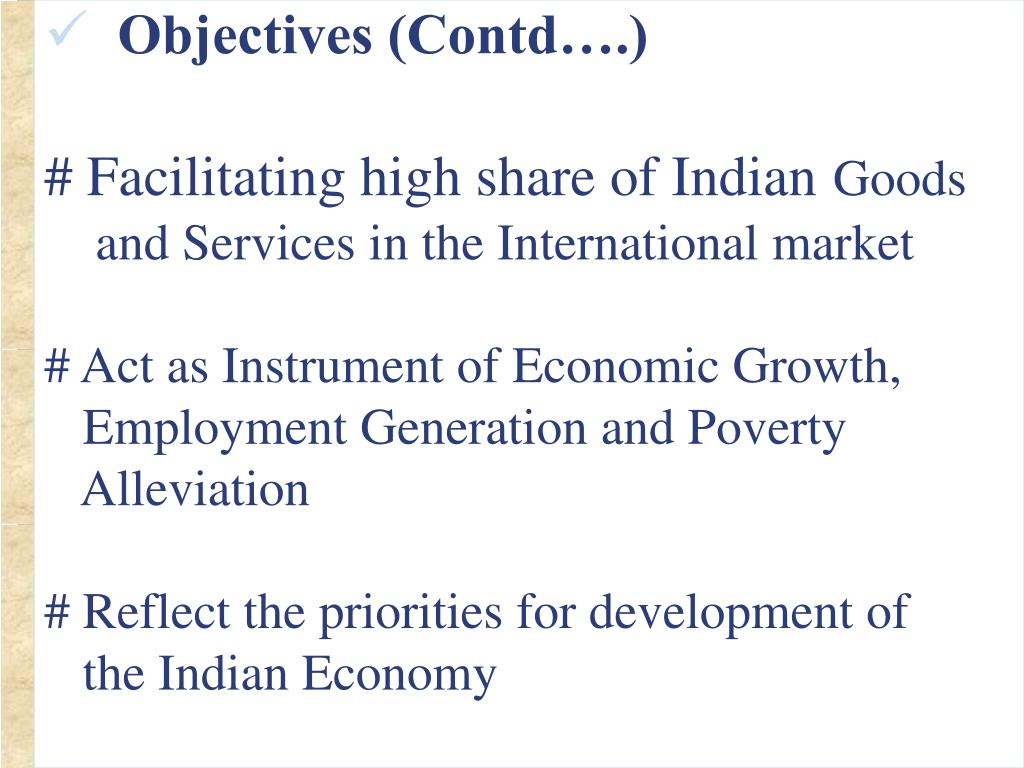 Objectives (Contd….)