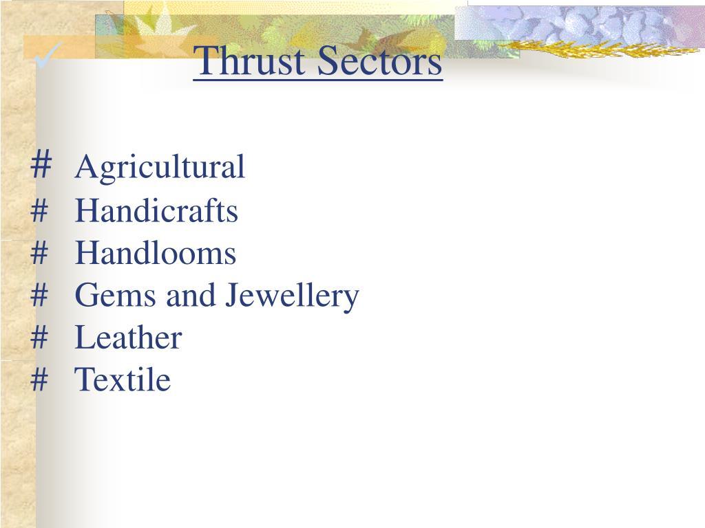 Thrust Sectors