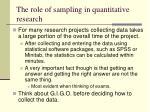 the role of sampling in quantitative research9