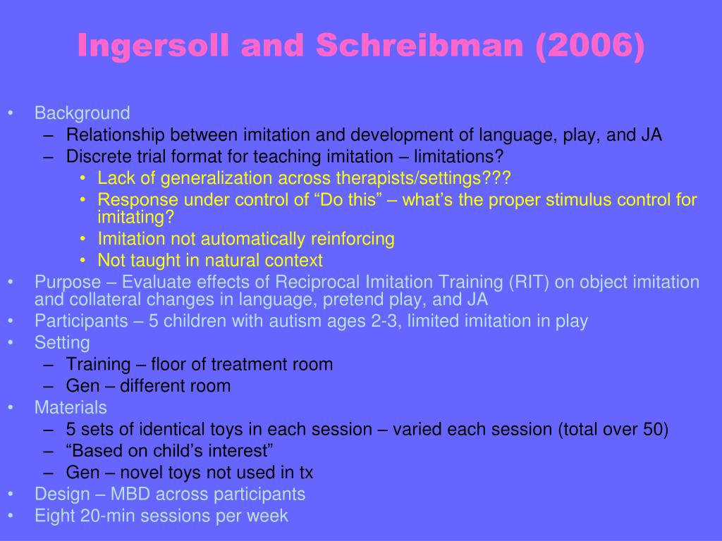 Ingersoll and Schreibman (2006)
