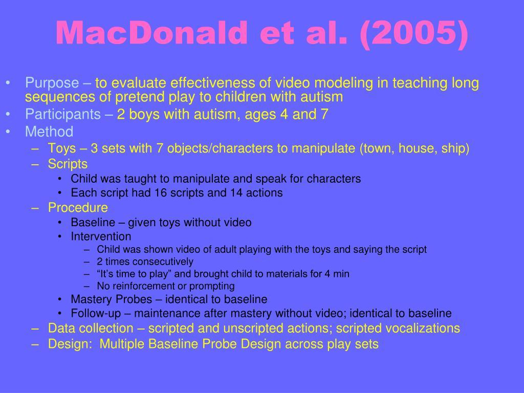 MacDonald et al. (2005)