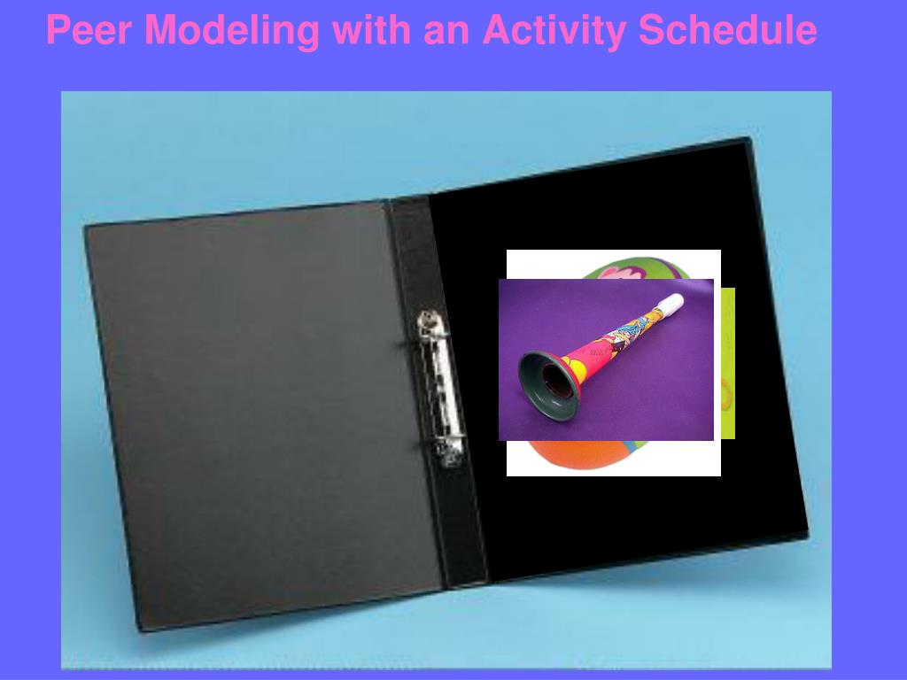 Peer Modeling with an Activity Schedule