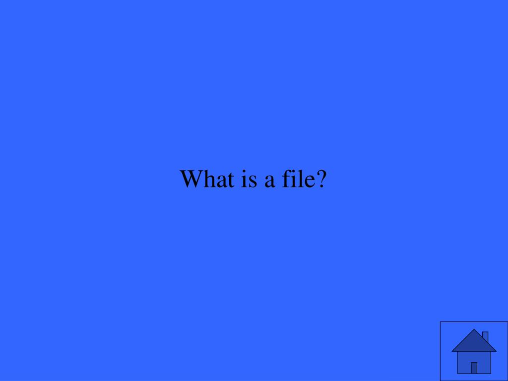 What is a file?