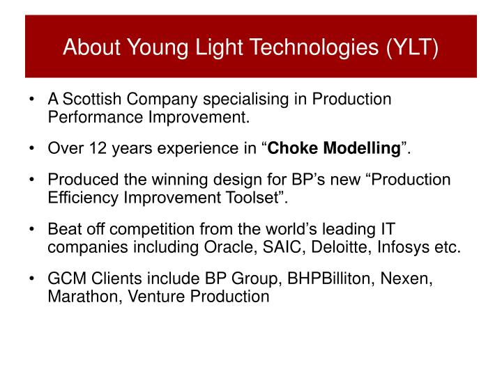 About young light technologies ylt