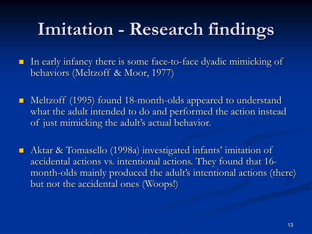 Imitation - Research findings