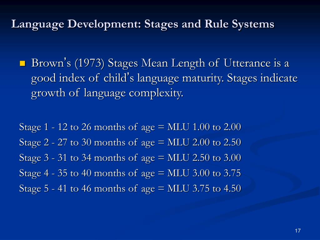 Language Development: Stages and Rule Systems