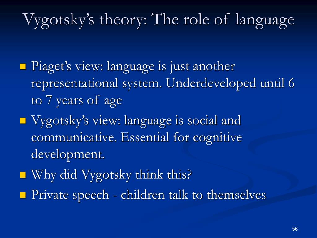 Vygotsky's theory: The role of language