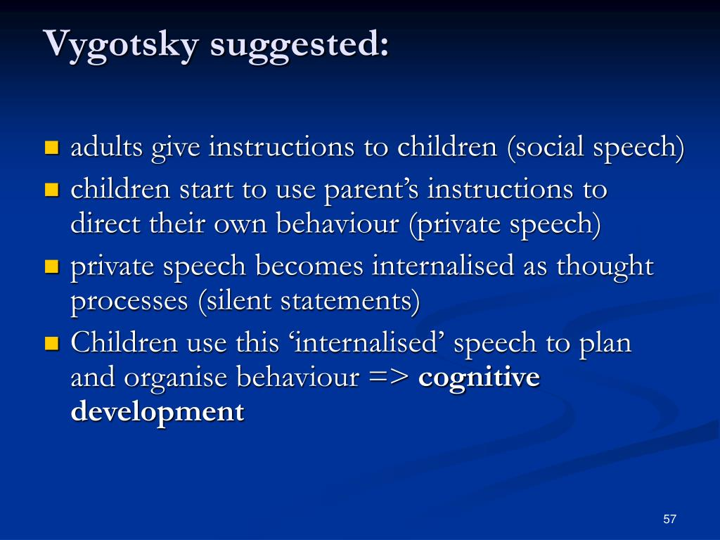 Vygotsky suggested: