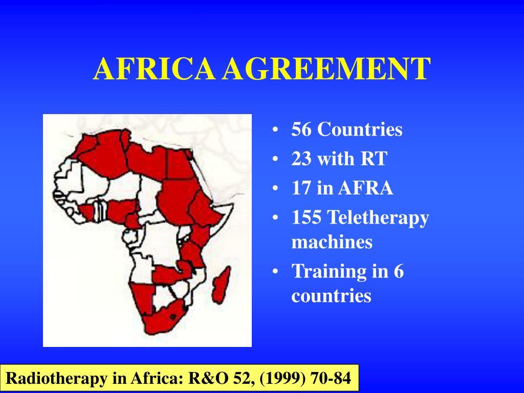 AFRICA AGREEMENT