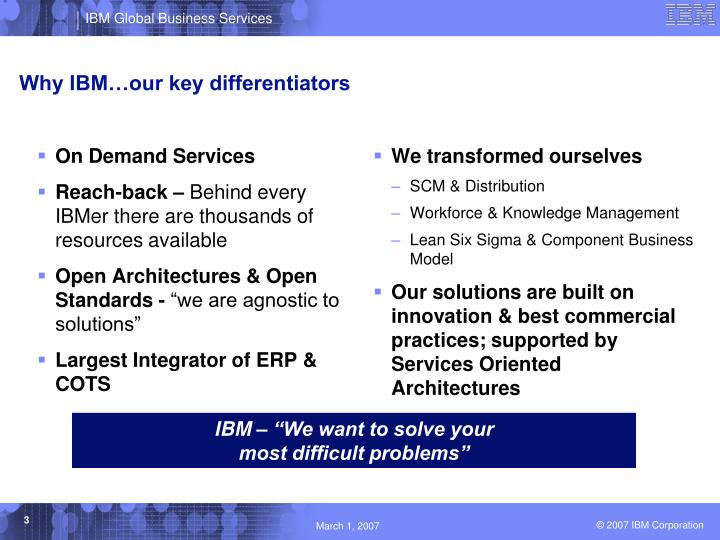 Why ibm our key differentiators