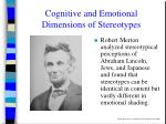 cognitive and emotional dimensions of stereotypes