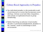 culture based approaches to prejudice