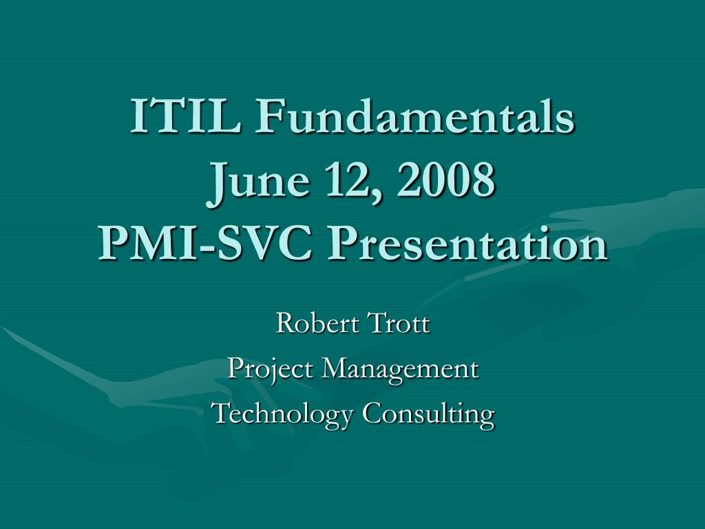 ITIL Fundamentals