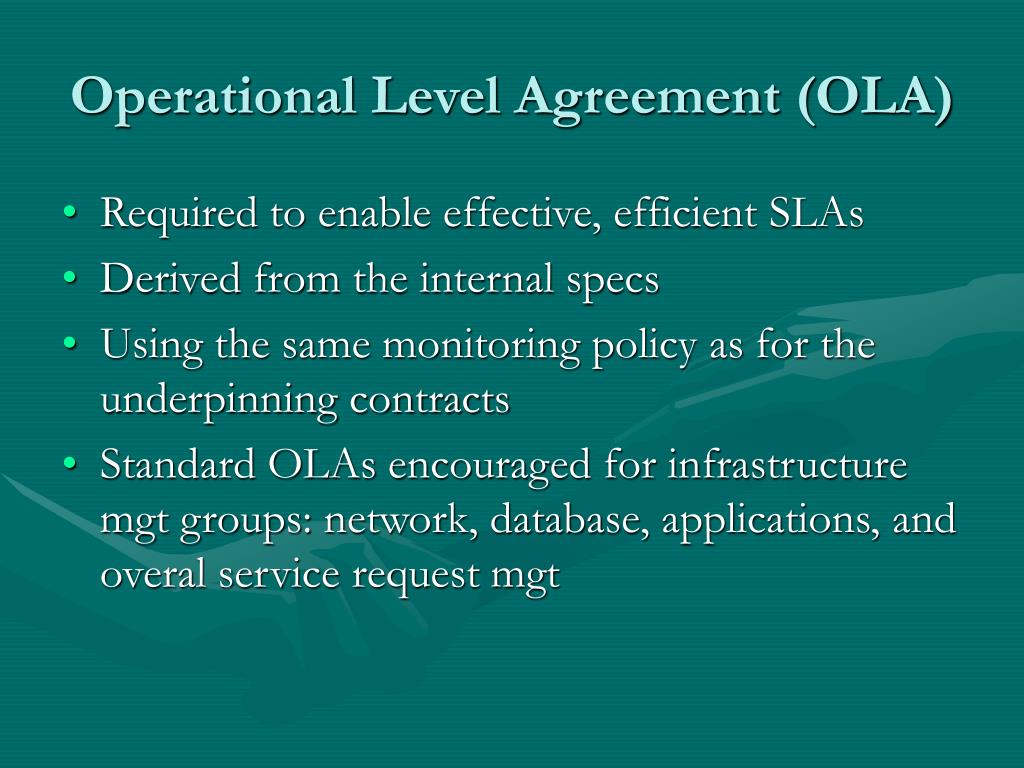 Operational Level Agreement (OLA)