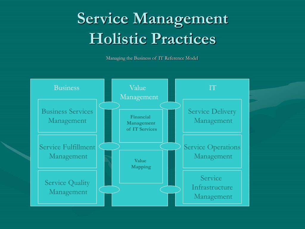 Service Management                Holistic Practices