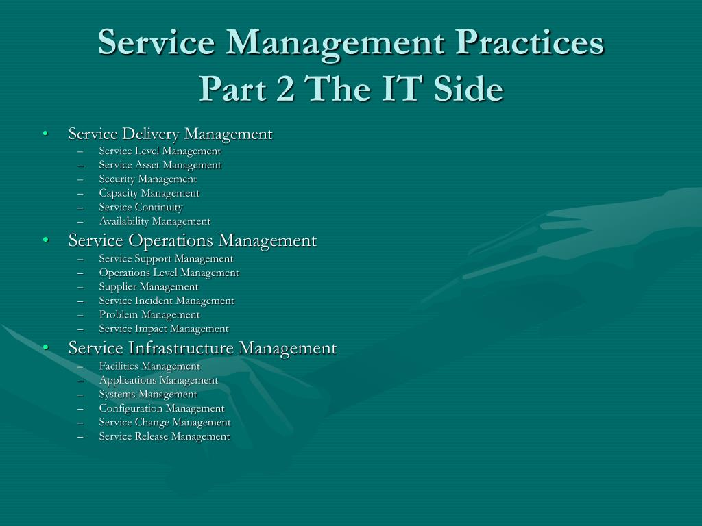 Service Management Practices