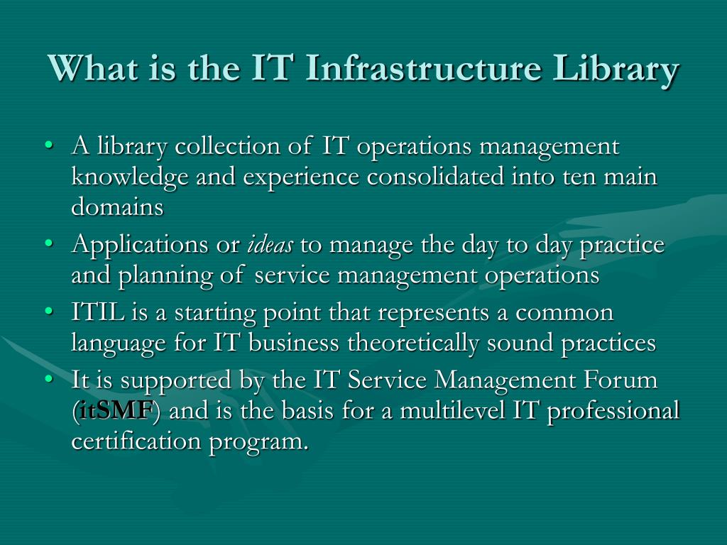 What is the IT Infrastructure Library
