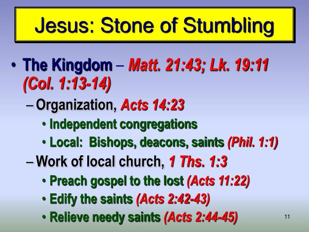 Jesus: Stone of Stumbling