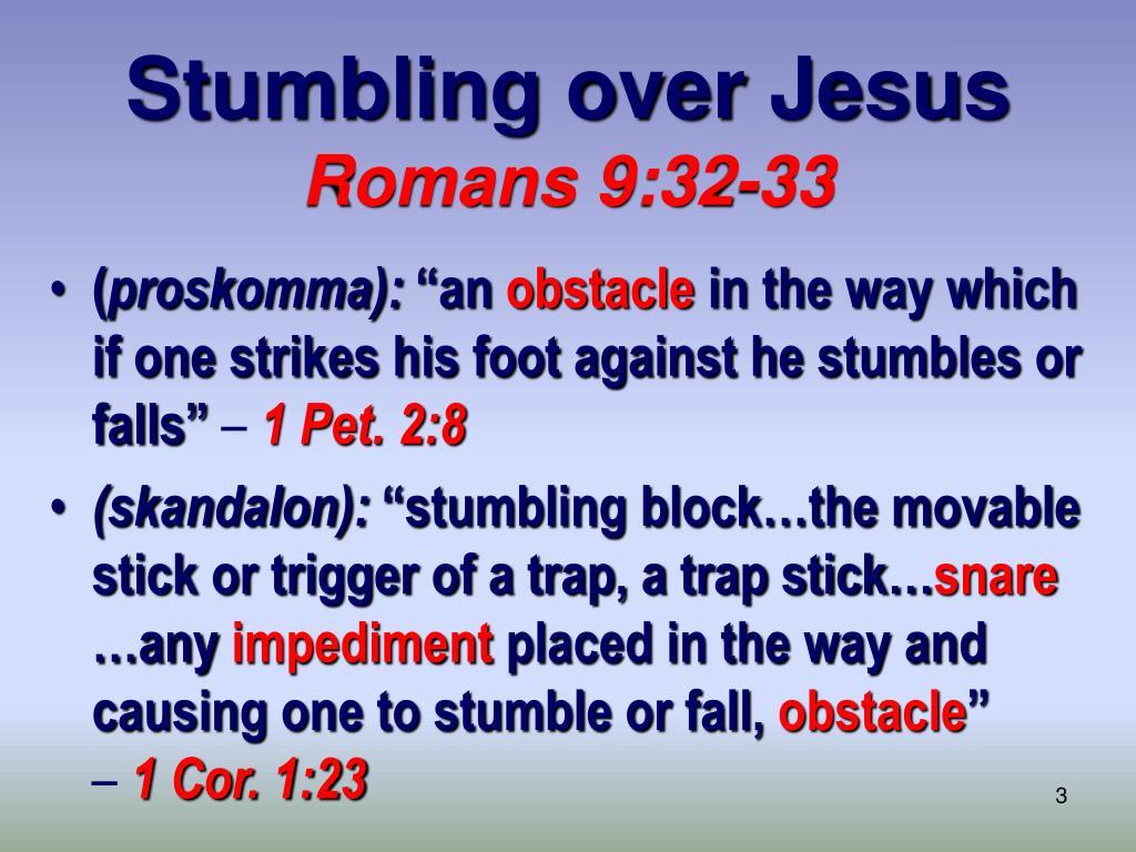 Stumbling over Jesus