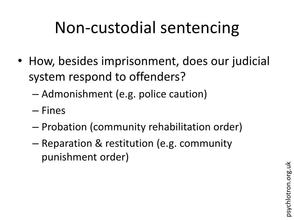 Non-custodial sentencing