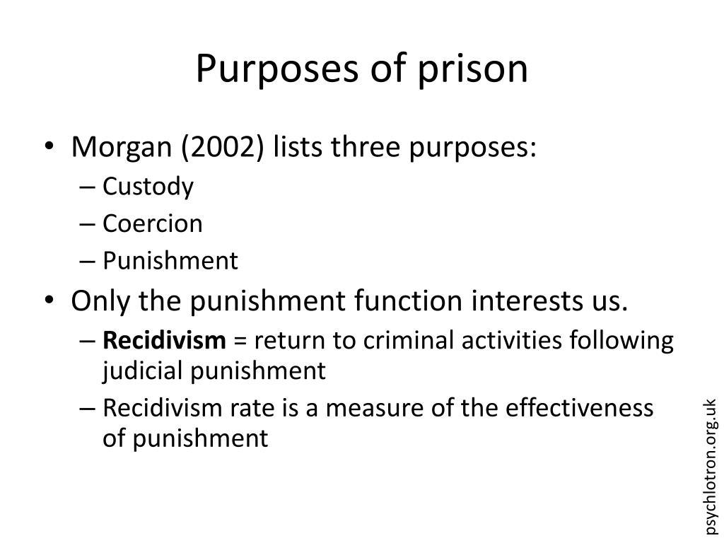 Purposes of prison