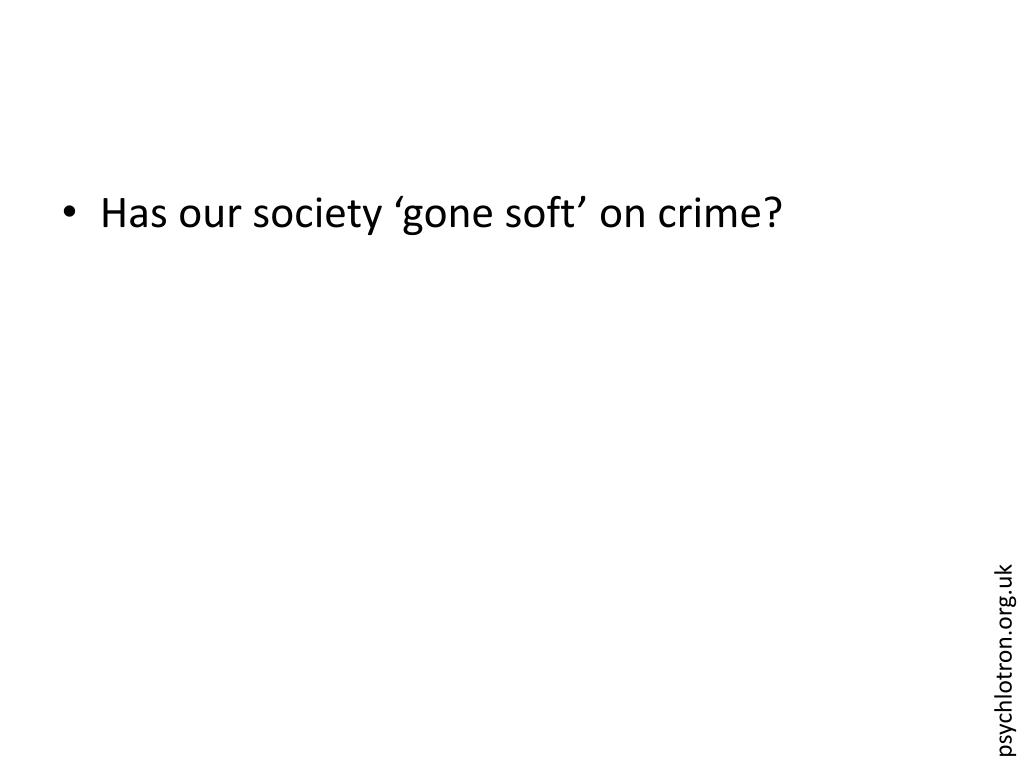 Has our society 'gone soft' on crime?