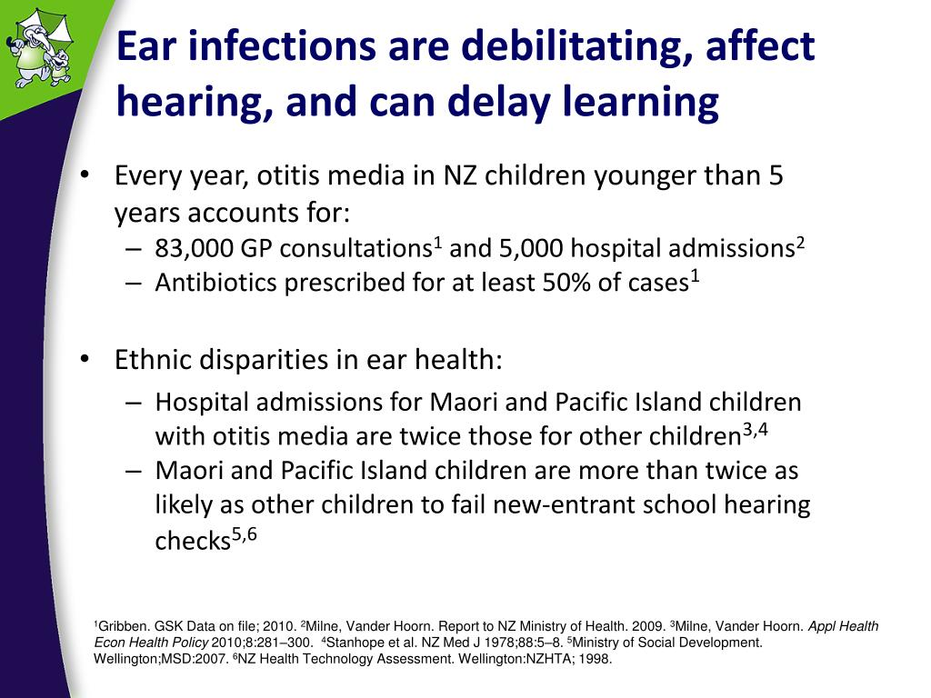 Ear infections are debilitating, affect hearing, and can delay learning