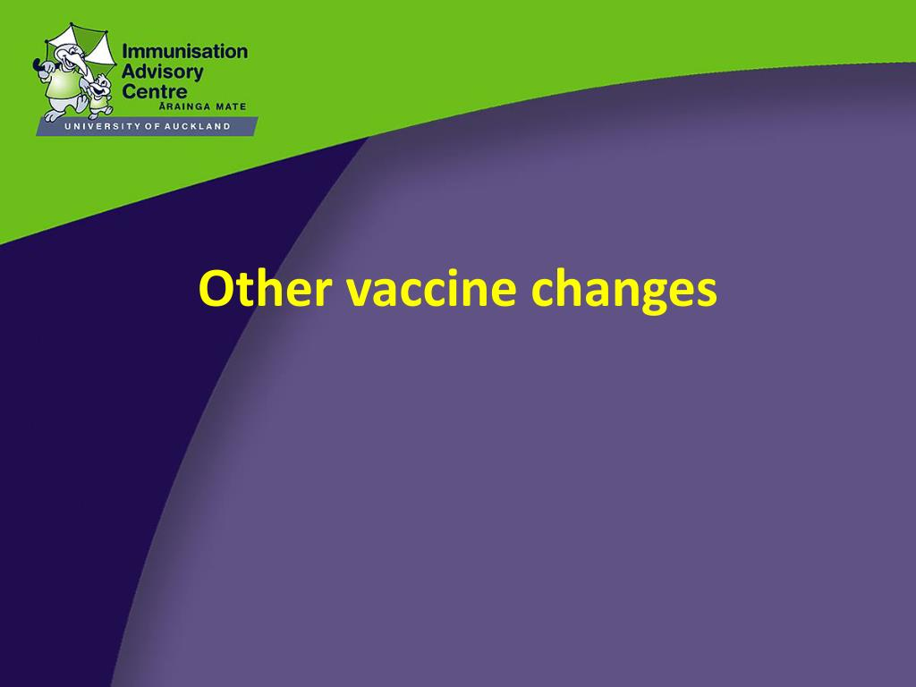 Other vaccine changes