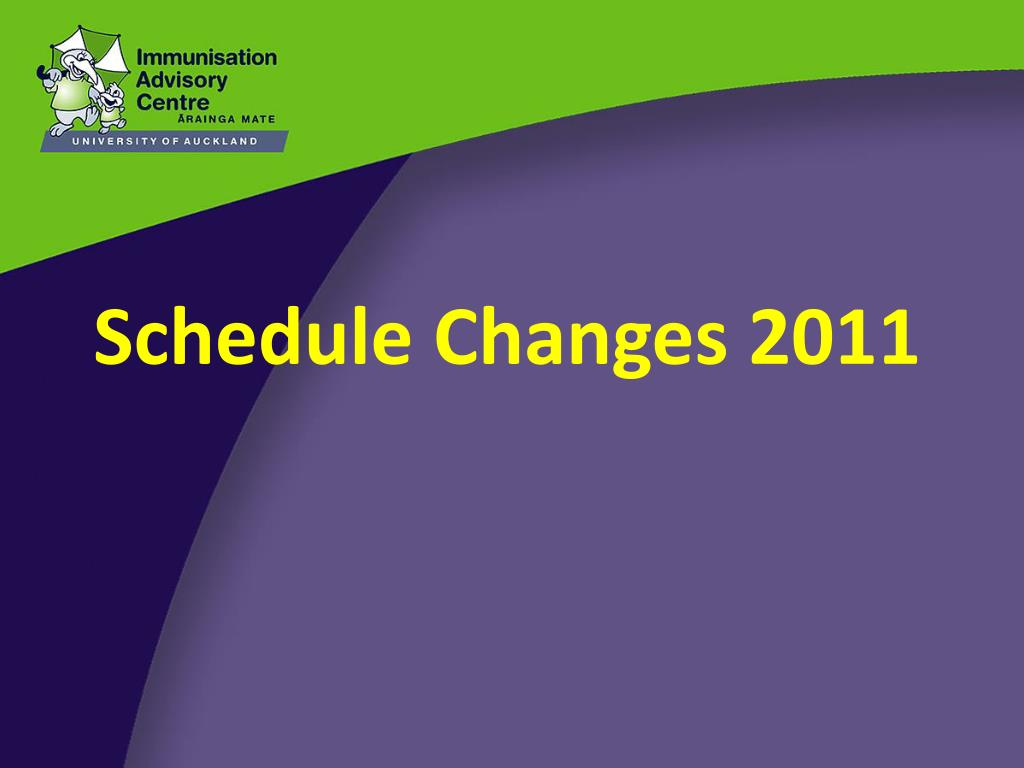 Schedule Changes 2011