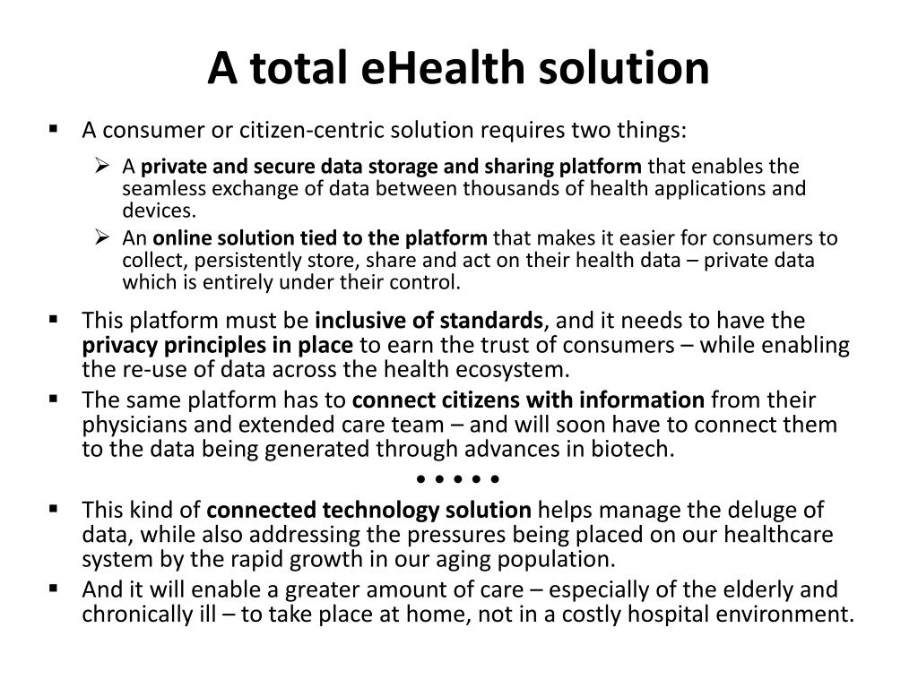 A total eHealth solution