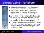example galilean thermometer