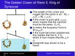 the golden crown of hiero ii king of syracuse32