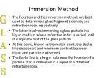 immersion method