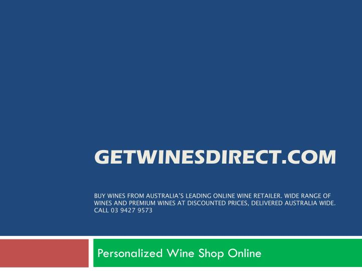 Personalized wine shop online