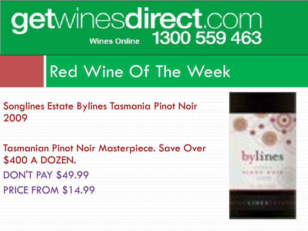 Red Wine Of The Week