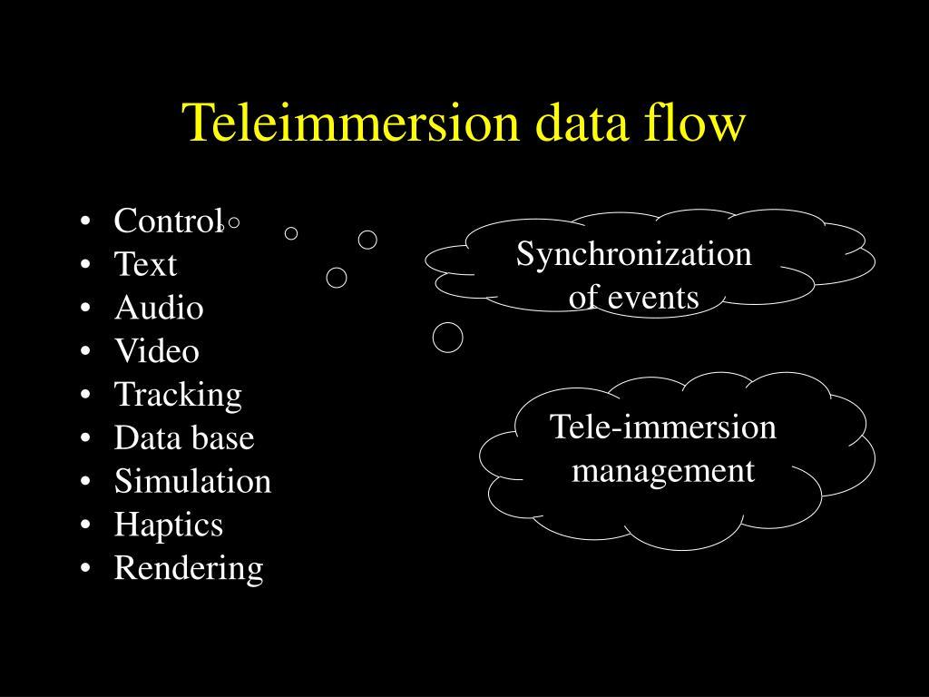 Teleimmersion data flow