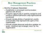 best management practices communication enhancement