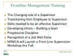 frontline management training