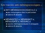 les vaccins anti m ningococciques 2