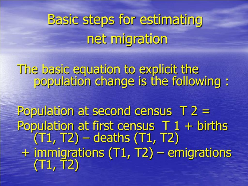 Basic steps for estimating