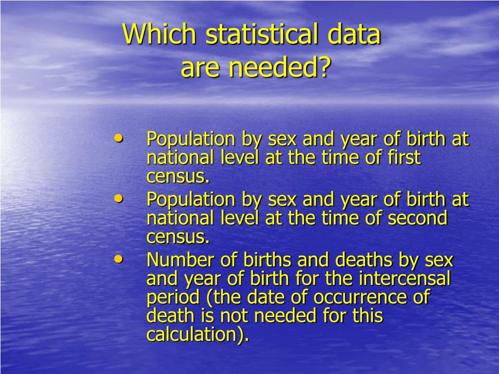 Which statistical data
