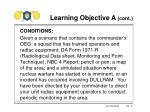 learning objective a cont