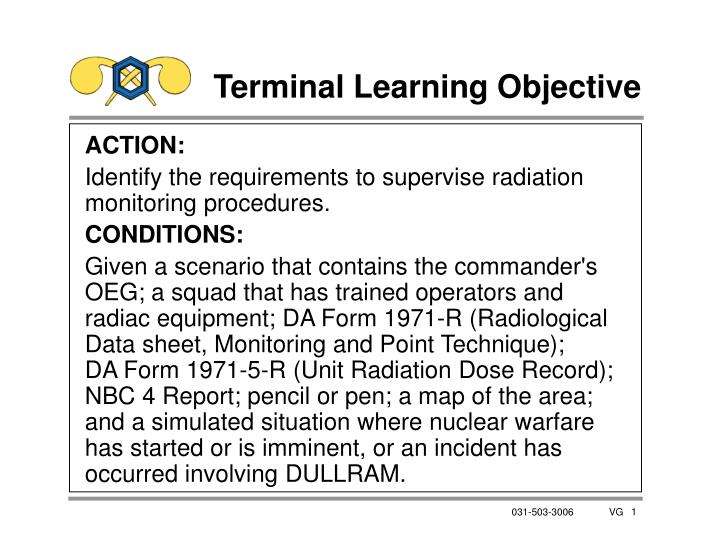 terminal learning objective n.