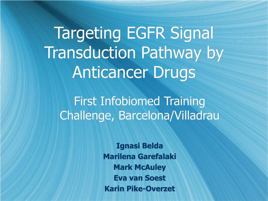 targeting egfr signal transduction pathway by anticancer drugs l.